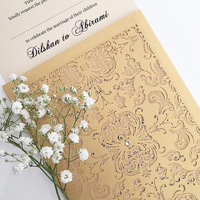 Hindu Wedding Invite from a Hindu Wedding on Kara's Party Ideas | KarasPartyIdeas.com (14)