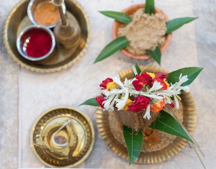 Hindu Blooms from a Hindu Wedding on Kara's Party Ideas | KarasPartyIdeas.com (7)