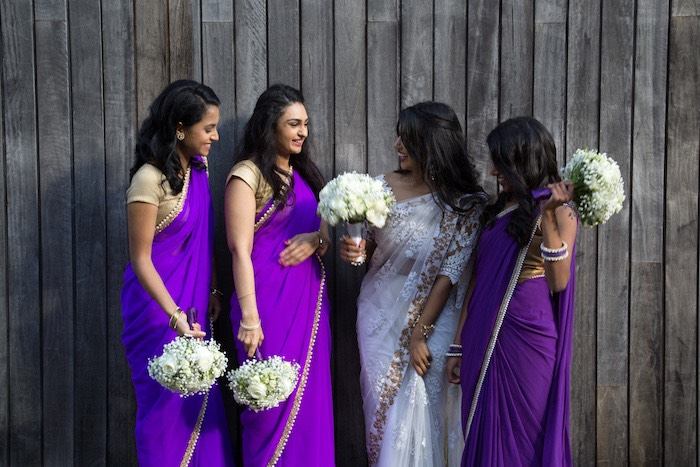 Hindu Bridesmaids from a Hindu Wedding on Kara's Party Ideas | KarasPartyIdeas.com (21)