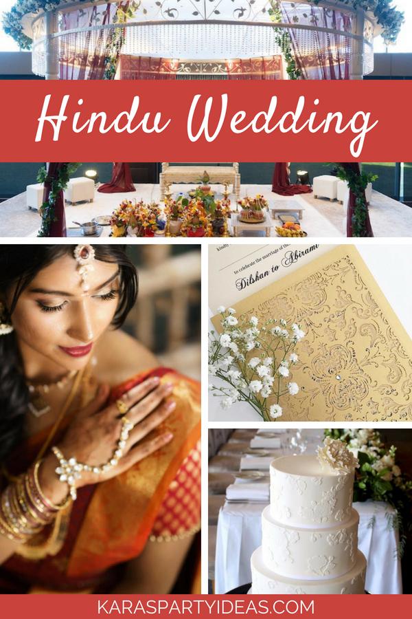 Hindu Wedding via Kara's Party Ideas - KarasPartyIdeas.com