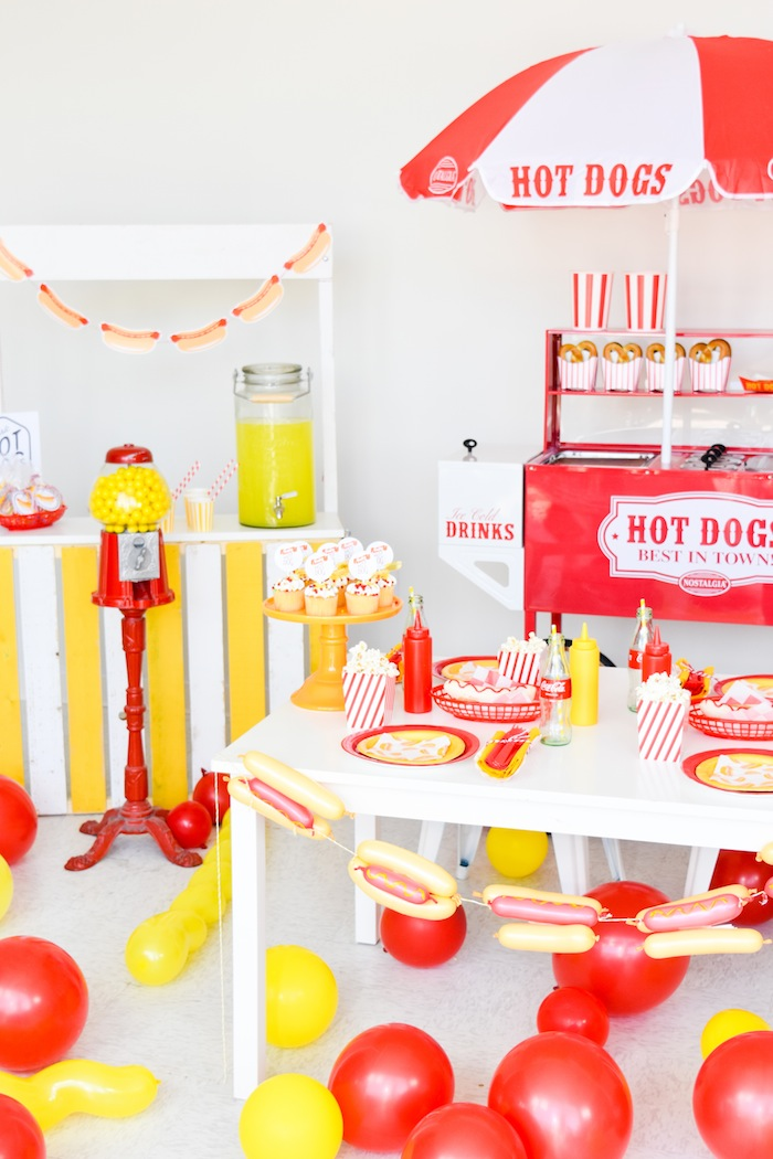 Karas Party Ideas Hot Dog Themed Summer Free Printables