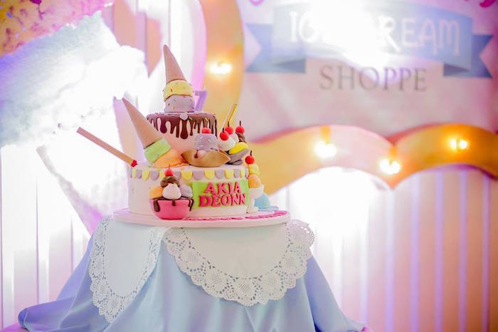 Ice Cream Shoppe Birthday Party on Kara's Party Ideas | KarasPartyIdeas.com (16)
