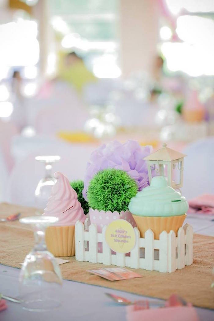 Ice Cream Shoppe Birthday Party on Kara's Party Ideas | KarasPartyIdeas.com (12)