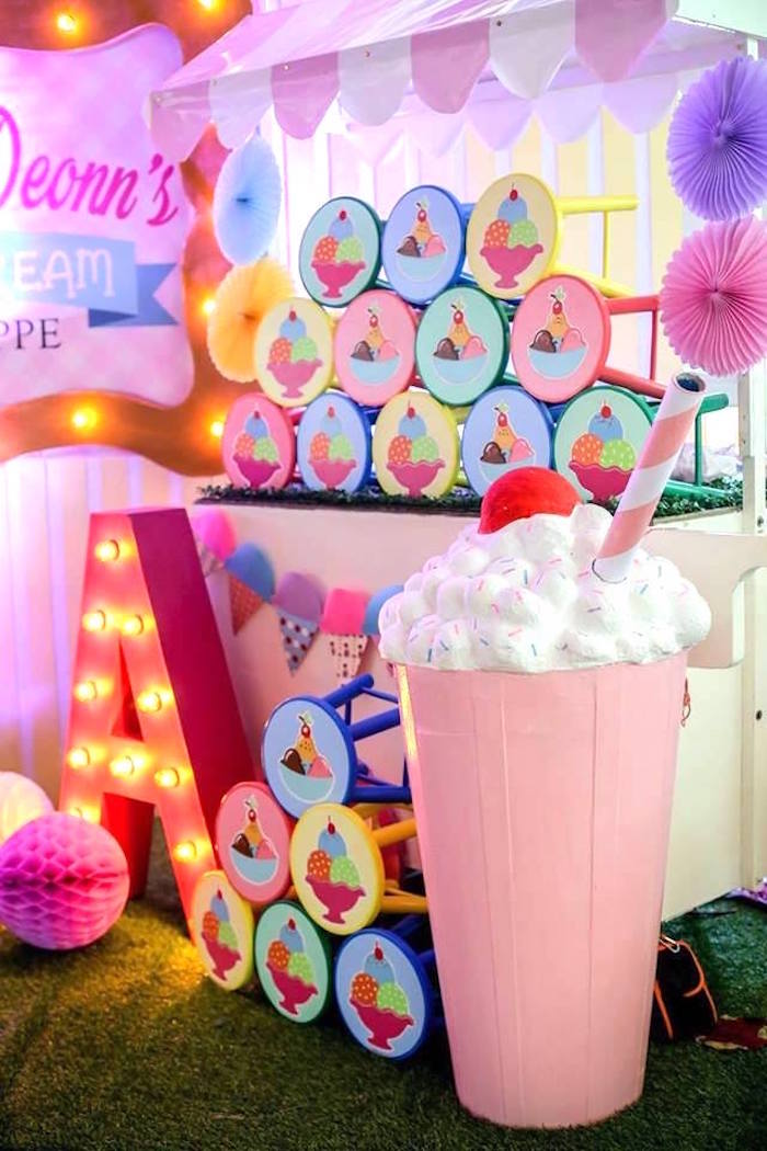 Ice Cream Shoppe Birthday Party on Kara's Party Ideas | KarasPartyIdeas.com (11)