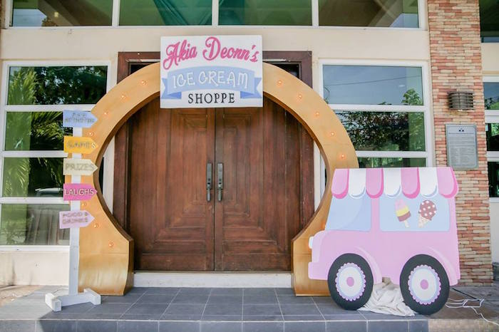 Ice Cream Shoppe Birthday Party on Kara's Party Ideas | KarasPartyIdeas.com (8)