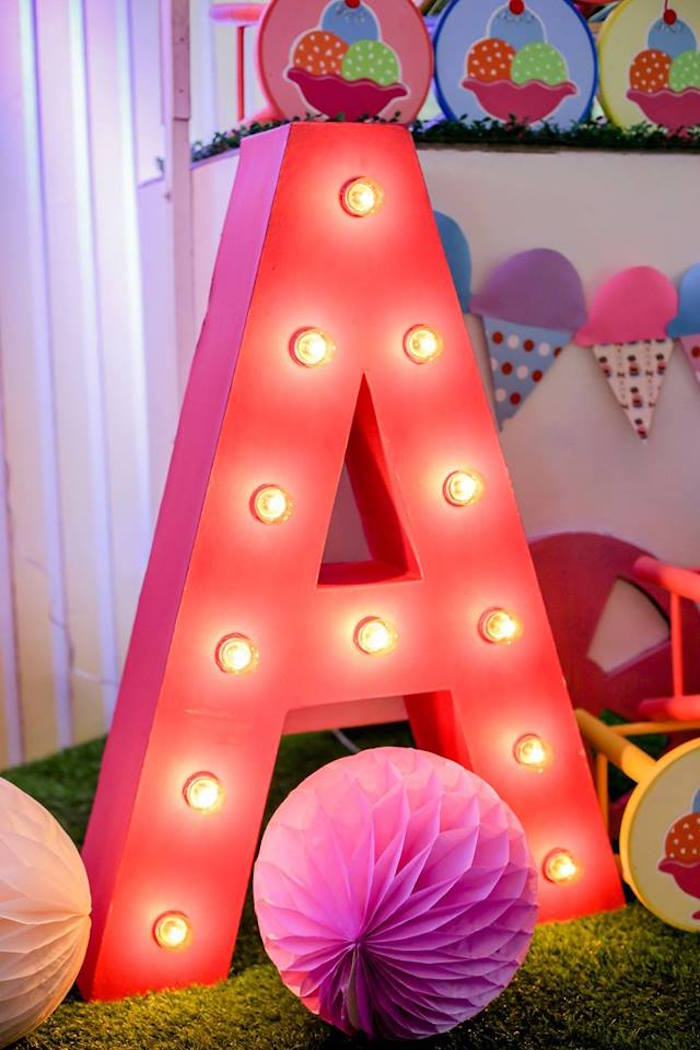 Ice Cream Shoppe Birthday Party on Kara's Party Ideas | KarasPartyIdeas.com (7)