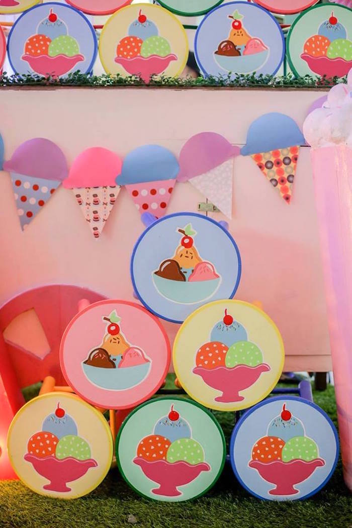 Ice Cream Shoppe Birthday Party on Kara's Party Ideas | KarasPartyIdeas.com (5)