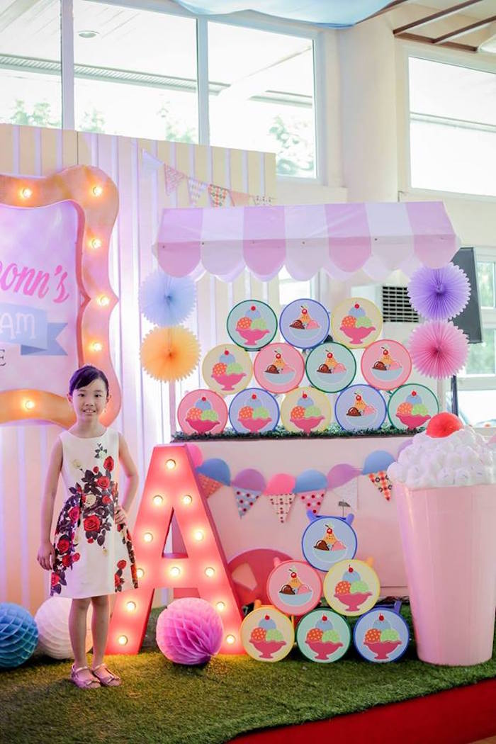 Ice Cream Shoppe Birthday Party on Kara's Party Ideas | KarasPartyIdeas.com (4)