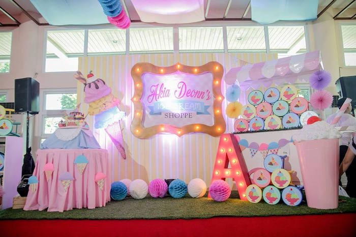 Ice Cream Shoppe Birthday Party on Kara's Party Ideas | KarasPartyIdeas.com (17)