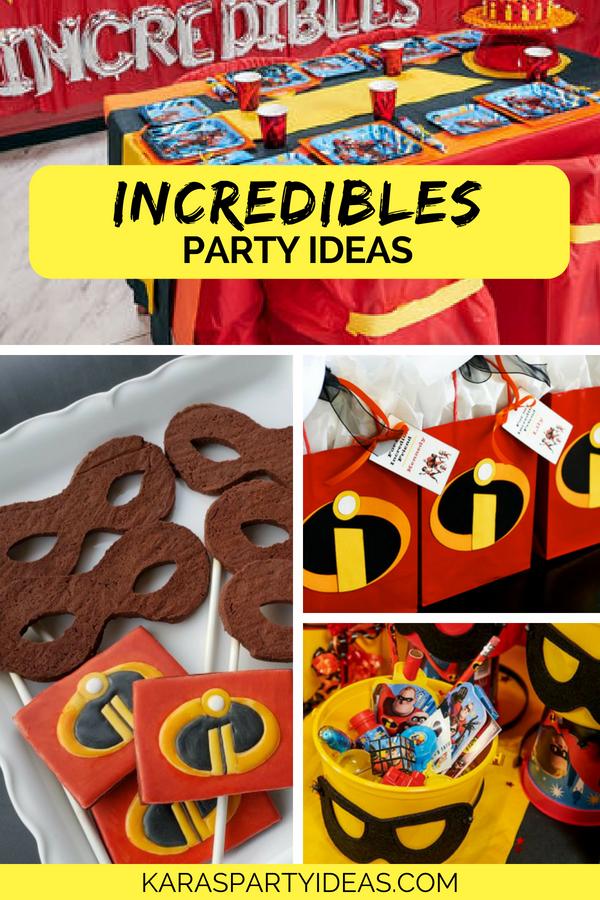 Incredibles Party Ideas via Kara's Party Ideas - KarasPartyIdeas.com
