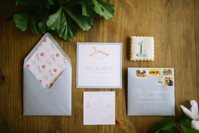 Kentucky Derby Party Invitation from a Kentucky Derby Inspired 1st Birthday Party on Kara's Party Ideas | KarasPartyIdeas.com (44)