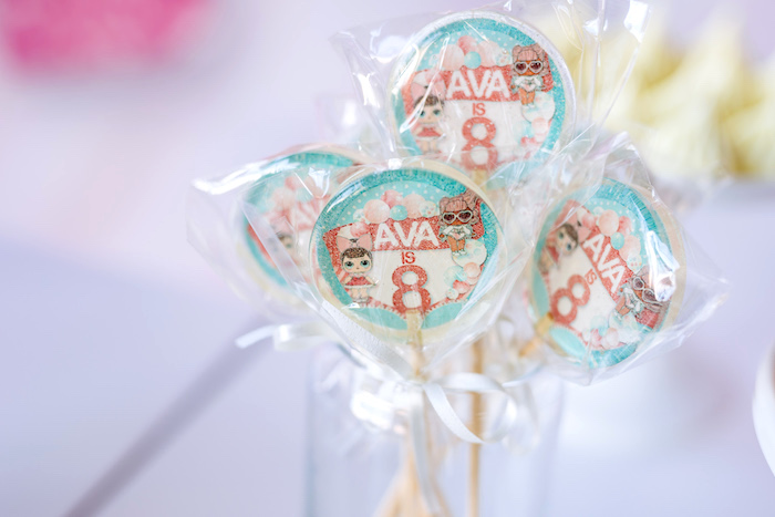 L.O.L. Surprise Doll Lollipops from an L.O.L. Surprise Disco Party on Kara's Party Ideas | KarasPartyIdeas.com (14)