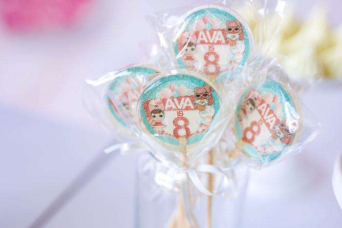 L.O.L. Surprise Doll Lollipops from an L.O.L. Surprise Disco Party on Kara's Party Ideas | KarasPartyIdeas.com (14)