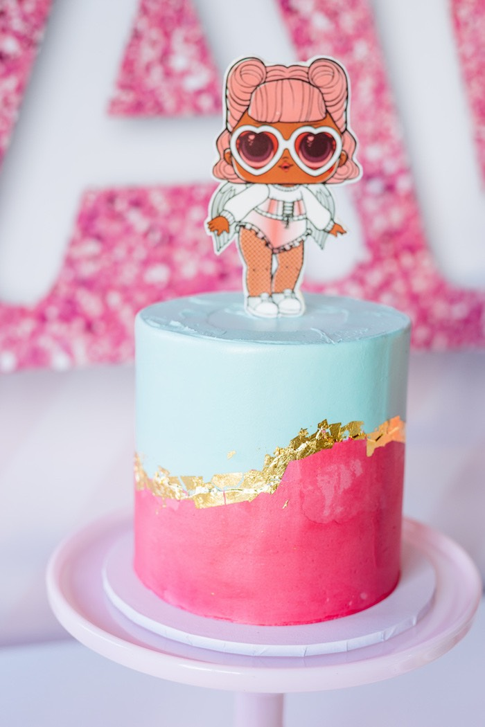 L.O.L. Doll Cake from an L.O.L. Surprise Disco Party on Kara's Party Ideas | KarasPartyIdeas.com (11)
