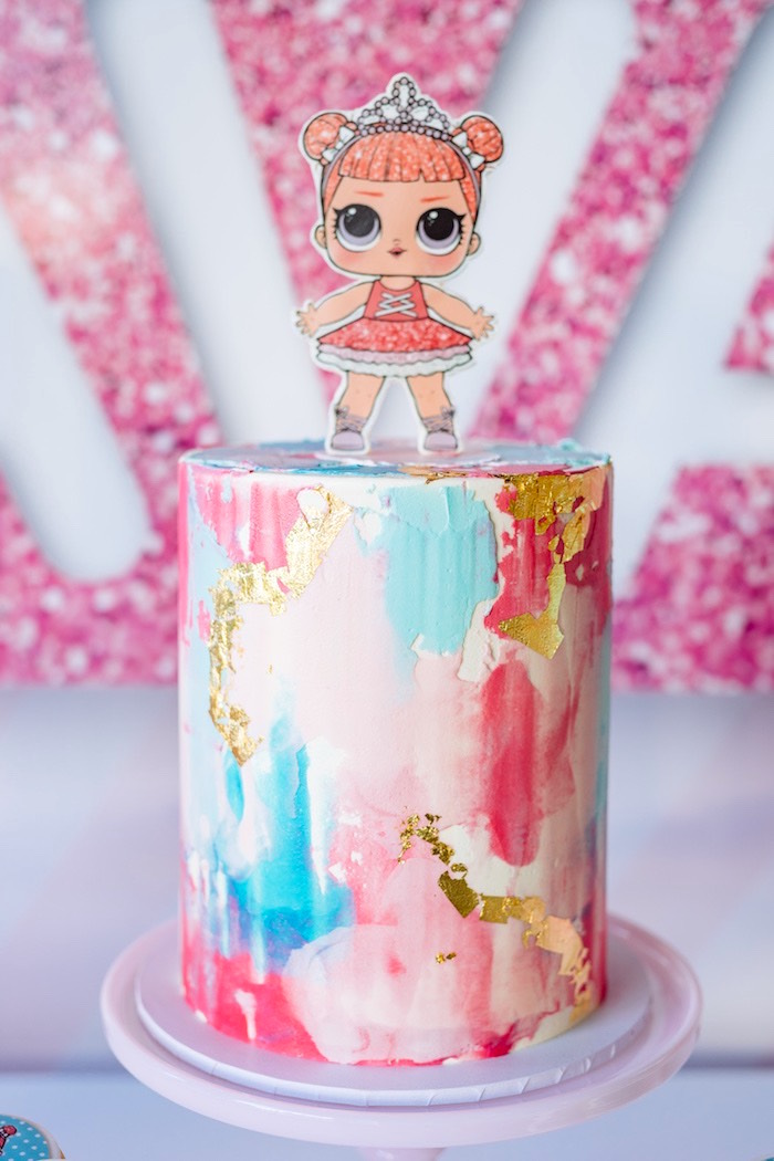 L.O.L. Doll Cake from an L.O.L. Surprise Disco Party on Kara's Party Ideas | KarasPartyIdeas.com (10)