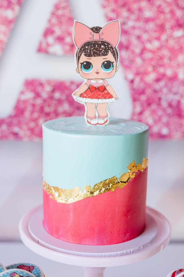 L.O.L. Doll Cake from an L.O.L. Surprise Cake from a L.O.L. Surprise Disco Party on Kara's Party Ideas | KarasPartyIdeas.com (9)
