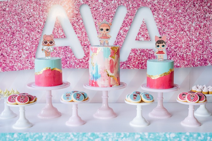 L.O.L. Surprise Doll Cakes from an L.O.L. Surprise Disco Party on Kara's Party Ideas | KarasPartyIdeas.com (20)