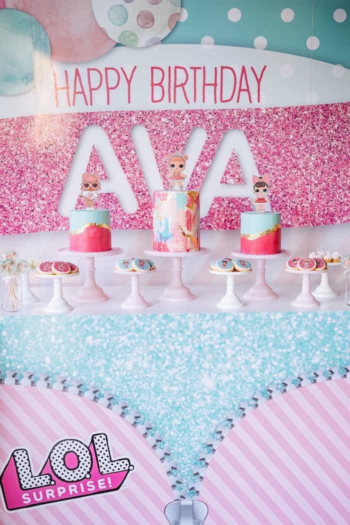 L.O.L. Surprise Doll Dessert Table from an L.O.L. Surprise Disco Party on Kara's Party Ideas | KarasPartyIdeas.com (19)