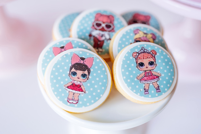 L.O.L. Surprise Doll Cookies from an L.O.L. Surprise Disco Party on Kara's Party Ideas | KarasPartyIdeas.com (16)