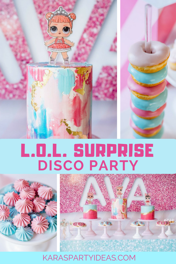 L.O.L. Surprise Disco Party via Karas Party Ideas - KarasPartyIdeas.com