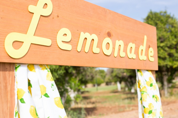 Lemonade Stand Sign from a Lemonade Stand Birthday Party on Kara's Party Ideas | KarasPartyIdeas.com (22)