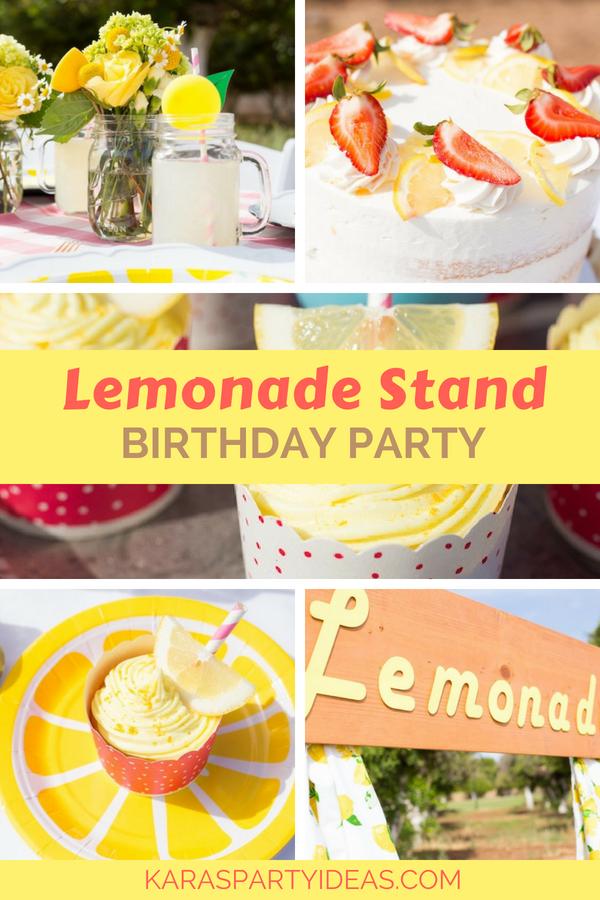 Lemonade Stand Birthday Party via Kara's Party Ideas - KarasPartyIdeas.com