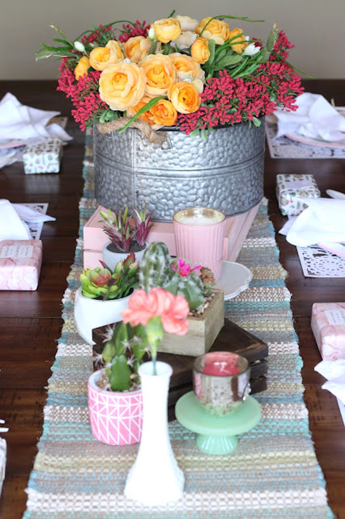 Cactus, Succulents & Blooms from a Llama & Cactus Birthday Fiesta on Kara's Party Ideas   KarasPartyIdeas.com (18)