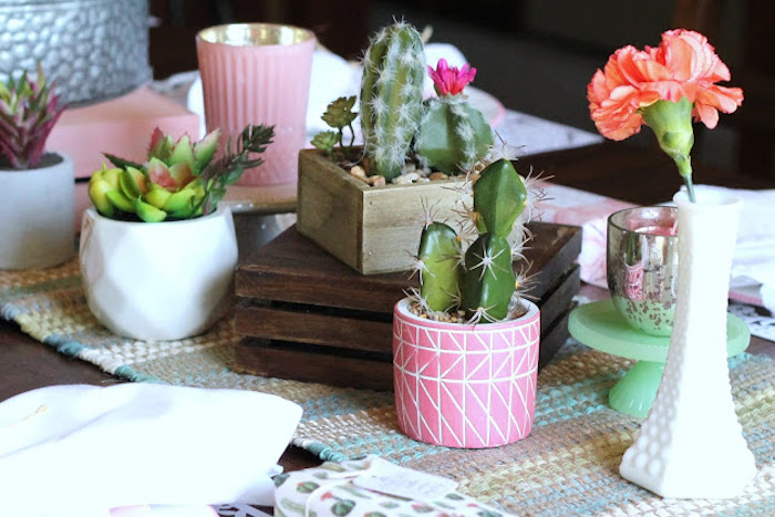 Cactus & Succulents from a Llama & Cactus Birthday Fiesta on Kara's Party Ideas | KarasPartyIdeas.com (17)