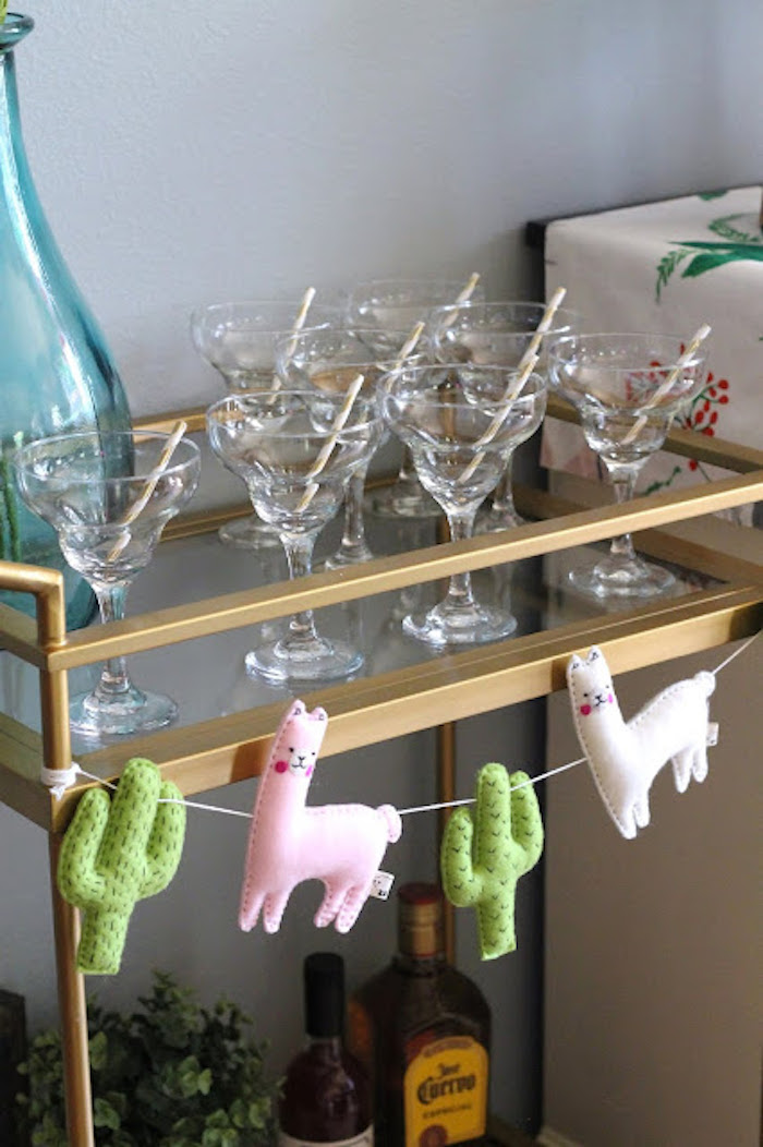 Margarita Glasses from a Llama & Cactus Birthday Fiesta on Kara's Party Ideas | KarasPartyIdeas.com (14)