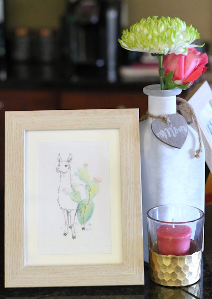 Llama Print from a Llama & Cactus Birthday Fiesta on Kara's Party Ideas | KarasPartyIdeas.com (9)