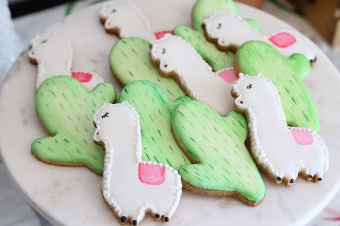 Cactus & Llama Cookies from a Llama & Cactus Birthday Fiesta on Kara's Party Ideas | KarasPartyIdeas.com (25)