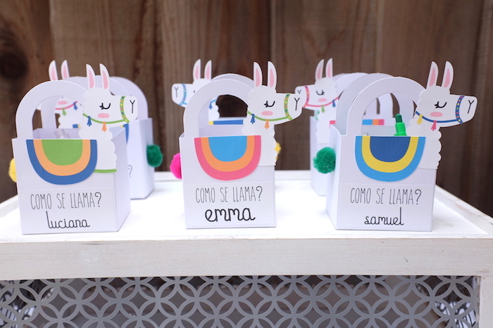 Llama Boxes from a Llama & Cactus Birthday Party on Kara's Party Ideas | KarasPartyIdeas.com (16)