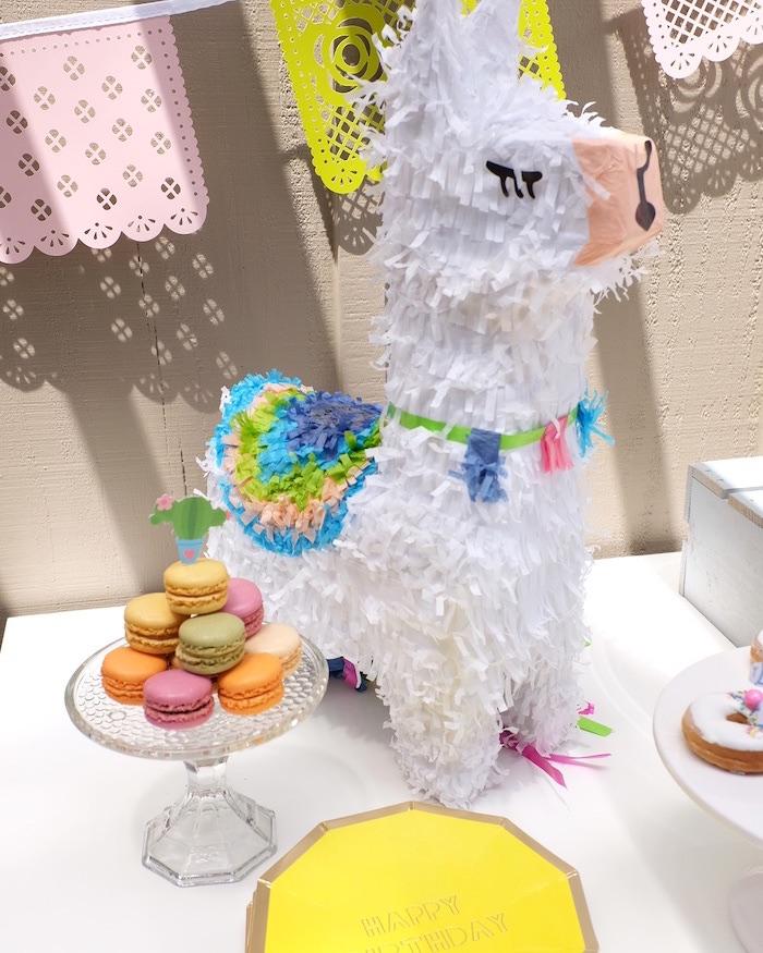 Llama Pinata from a Llama & Cactus Birthday Party on Kara's Party Ideas | KarasPartyIdeas.com (12)