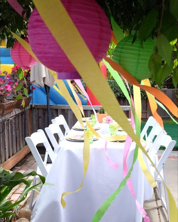 Fiesta Guest Table from a Llama & Cactus Birthday Party on Kara's Party Ideas | KarasPartyIdeas.com (8)