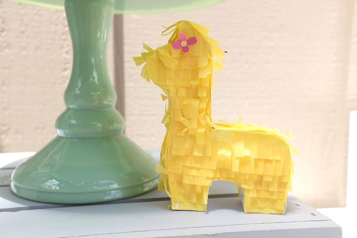 Mini Llama Pinata from a Llama & Cactus Birthday Party on Kara's Party Ideas | KarasPartyIdeas.com (26)