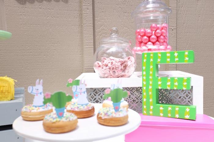 Fiesta Sweet Buffet from a Llama & Cactus Birthday Party on Kara's Party Ideas | KarasPartyIdeas.com (25)