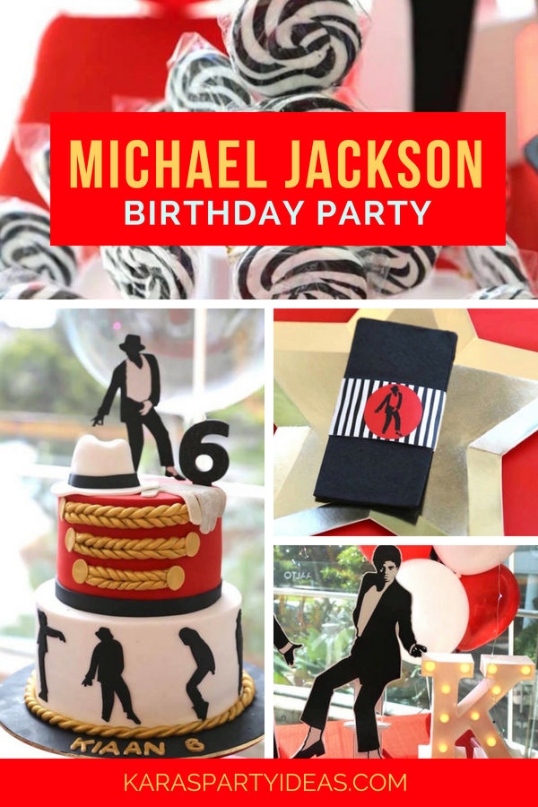 Kara\'s Party Ideas Michael Jackson Birthday Party   Kara\'s Party Ideas