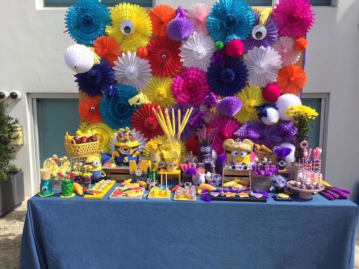 Minion-inspired Dessert Table from a Minions Birthday Party on Kara's Party Ideas | KarasPartyIdeas.com (6)