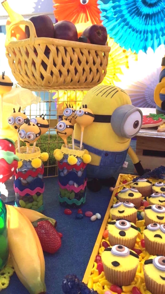 Minion Cake Pops + Cupcakes from a Minions Birthday Party on Kara's Party Ideas | KarasPartyIdeas.com (14)