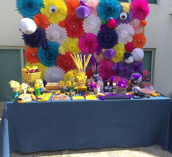 Minion-inspired Dessert Table from a Minions Birthday Party on Kara's Party Ideas | KarasPartyIdeas.com (7)