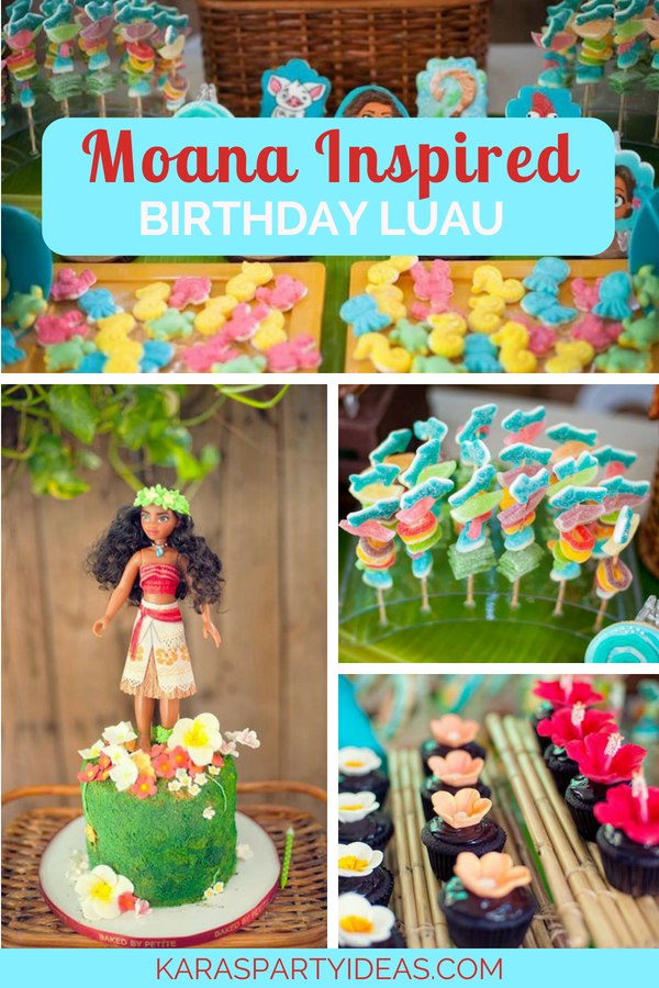 Moana Inspired Birthday Luau via Kara_s Party Ideas - KarasPartyIdeas.com