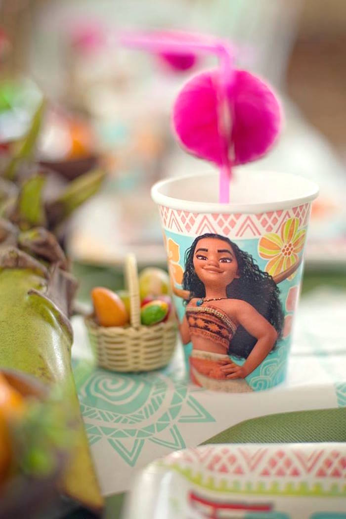 Moana Cup from a Moana Inspired Birthday Luau on Kara's Party Ideas | KarasPartyIdeas.com (10)