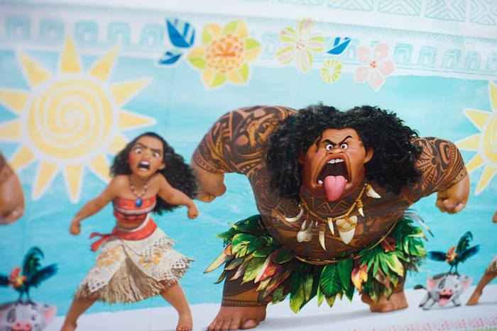 Moana Themed Table Cover from a Moana Inspired Birthday Luau on Kara's Party Ideas | KarasPartyIdeas.com (25)