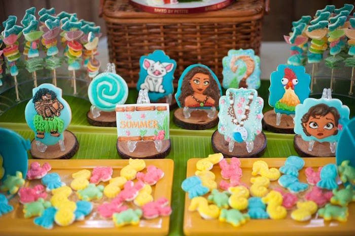 Moana Themed Cookies from a Moana Inspired Birthday Luau on Kara's Party Ideas | KarasPartyIdeas.com (2)