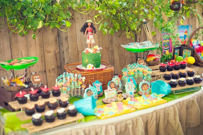 Moana Inspired Birthday Dessert Table on Kara's Party Ideas | KarasPartyIdeas.com (21)