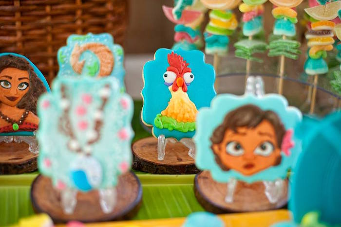 Hei Hei the Rooster Cookie from a Moana Inspired Birthday Luau on Kara's Party Ideas | KarasPartyIdeas.com (20)
