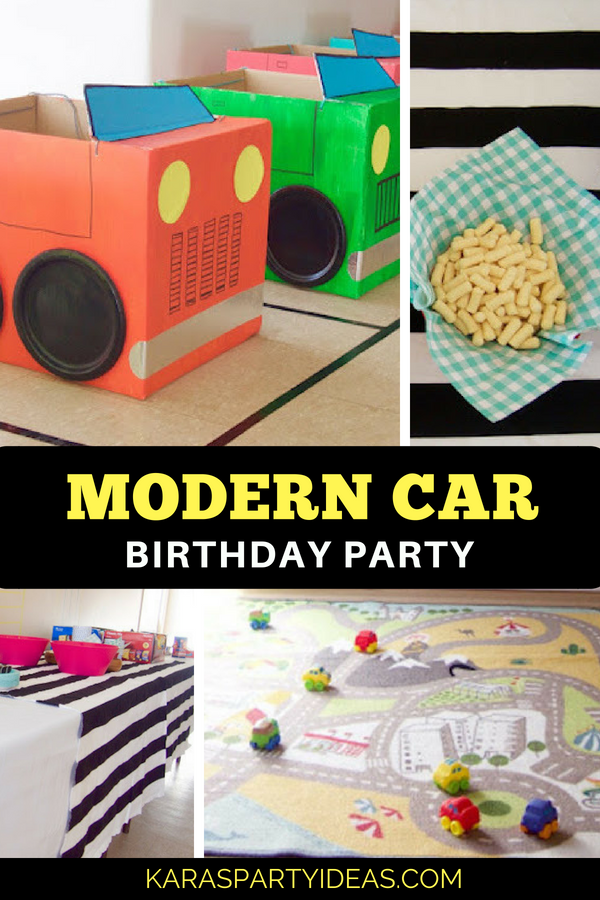 Modern Car Birthday Party via Kara_s Party Ideas - KarasPartyIdeas.com