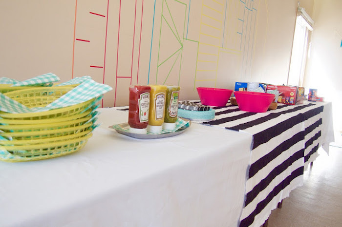 Food Table from a Modern Car Birthday Party on Kara's Party Ideas | KarasPartyIdeas.com (4)