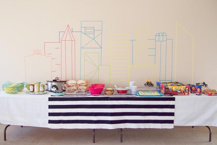 Food Table from a Modern Car Birthday Party on Kara's Party Ideas | KarasPartyIdeas.com (3)