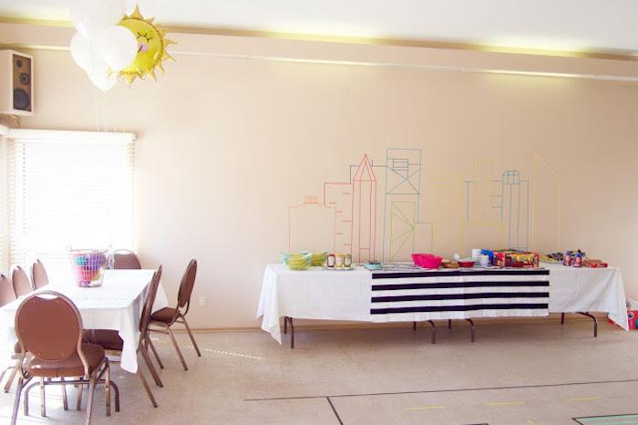 Party Tables from a Modern Car Birthday Party on Kara's Party Ideas | KarasPartyIdeas.com (14)